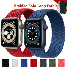 Braided Solo Loop Fabric Strap Band For Apple Watch Series 6 SE 5 4 3 2 1 40/44