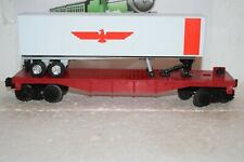 O Scale Trains Model Train Sales Inc. Unlettered Flat Car w/OTR Trailer
