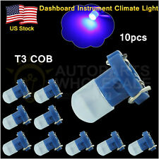 10× Blue T3 New Wedge COB LED Bulbs Instrument Panel Gauge Lamp Light 12V