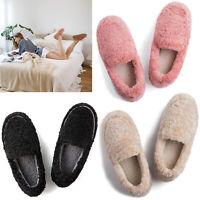 Women's Furry Faux Fur Bootie Slippers Memory Foam Ankle House Shoes Warm Boots