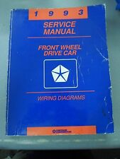1993 Dodge Front Wheel Drive Car Service Manual Wiring Diagrams FREE SHIPPING