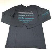 eBay Men's Graphic Logo Long Sleeve Shirt Dark Gray Size Medium