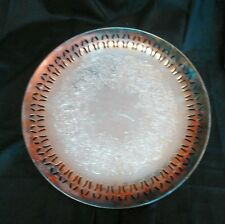 Vintage Academy Silver on Copper Tray 10.5""