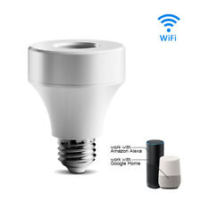 WiFi Remote Control Lamp Holder Wireless Light Bulb Socket Home E27/ E26 Durable