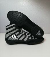 Adidas Adizero Varner 2 New Wrestling Shoes Men Size 9.5 Black/Grey FW1013 $160
