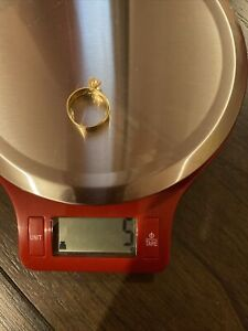 14k gold engagement ring size 9