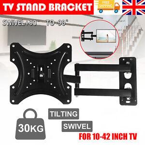 TV Wall Bracket Tilt Swivel For/10 15 20 23 25 30 32 38 40 42 Plasma LCD LED 3D