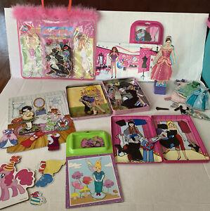 8 Sets Of Magnet Doll 5 Travel Sets Ballerinas, Barbie, Princess, MLP & More