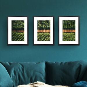 3 PCS Photo Lover Frame Wall Set A3 A4 Picture Home Decor Art Gift Present Black