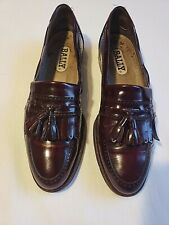 MENS Bally Shoes Men's 8.5B Cordovan Loafers Leather Great Cond Made in Italy