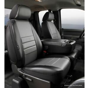 FIA SL67-42 GRAY LeatherLite Custom Seat Cover Front For 18-20 Ford F150 NEW