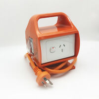 Converter 3 Pin 15 AMP Outlet to 10 AMP Power Point Outlet Socket Portable RCD