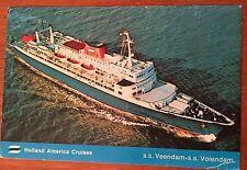 L79 Holland America Ocean Liner SS Veendam SS Volendam Vintage PC