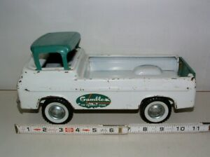 """* 1960s NYLINT PRESSED STEEL FORD ECONOLINE PICK-UP 11""""LONG"""