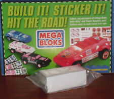 MEGA BLOKS White SUV car w/ Hello Kitty & Power Rangers Stickers, General Mills