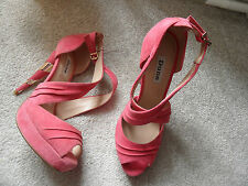 Dune Stiletto Peep Toes Suede Shoes for Women
