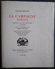 Léon PICHON - CHATEAUBRIAND Campagne Romaine Bois DETHOMAS 1/25 JAPON + 2 Suites