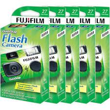 5 Fujifilm Quicksnap Flash 400 Disposable 35mm Single Use Film Camera 2019 Date