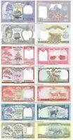 Nepal 1 + 2 + 5 + 10 + 20 + 50 + 100 Rupees Set of 7 Banknotes 7 PCS UNC