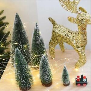 5Pcs Mini Christmas Tree Ornaments Small Pine Tree Xmas Christmas Party Decor