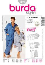 Schnittmuster burda style No 2691 Schlafanzug Damen und Herren Gr. 38 - 54