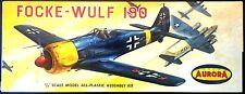 AURORA Kit No.30-100, FOCKE-WULF FW-190, 1/48, - MIB & 100% COMPLETE, 1960
