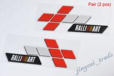 Pair Colorful RALLI ART Logo Car Auto Sticker Decal Universal for Mitsubishi New