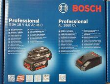 BOSCH STARTER Akku-Set 2 x GBA 18 V 4,0 Ah M-C + AL 1860 CV NEU! OVP !