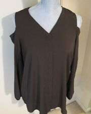 Women's Size 1 Cocoa Bean Cold Shoulder Long Sleeve Blouse/Top - NWT