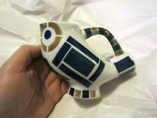 Vintage Sargadelos Porcelain Owl Bird Milk Jug Pitcher Blue & White Spain NR