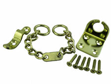 Door Chain Security Safety Lock Wing Type + Screws Brass Plated QTY 10