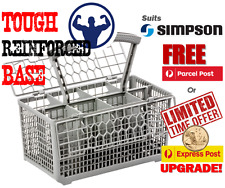 Best quality dishwasher cutlery basket, suits Simpson Free Post. Tough base