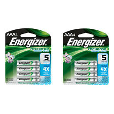 Energizer AAA Rechargeable Batteries 4 Pack, 2 Count = 8 Batteries