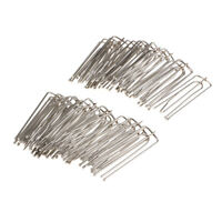 30Pcs Curtain Hooks Clip 4-Prong Pinch Pleat Hanging Goblet silver metal
