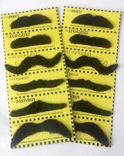 12 fancy dress MOUSTACHES Stick on Fake Tash Moustache False Mexican PartyJoke