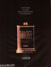 PUBLICITE ADVERTISING 066  2000  Caron parfum Anarchiste