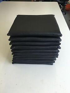 echt Leder schwarz Sitzkissen Stuhlkissen Auflage Gelschaum 45x45 cm Antirutsch