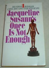 1974 ONCE IS NOT ENOUGH Jacqueline Susann NY Times Best-Seller List VINTAGE PB