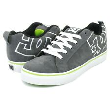 Tg 41 - Scarpe Uomo Skate DC Shoes Court Vulc Grey Soft Lime Sneakers Schuhe