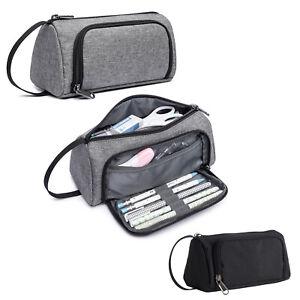School Pencil Pouch Girl Boy Children Stationery Storage Holder Zipper Bag Case