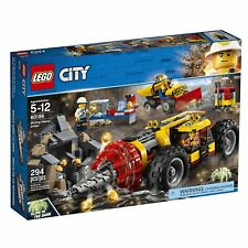 LEGO® City Mining Heavy Driller Building Play Set 60186 NEW NIB