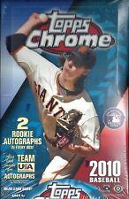 2010 Topps Chrome Baseball Hobby Box   Mike Stanton  Steven Strasburg  RC's ??