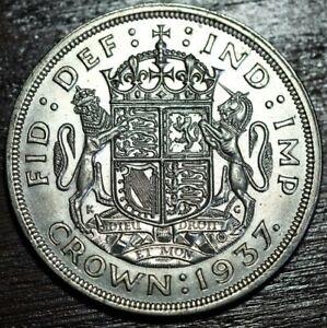 1937 KGVI .500 Silver crown 5 shillings coin