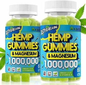 (2 Pack) Gummies 1,000,000 with Magnesium, Gummies for Pain and Anxiety Relief