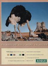 Publicité 1994  Chaussure AIGLE  Modèle Ténéré  collection mode