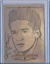 Shia LaBeouf Indiana Jones Masterpieces 2008 Topps Sketch Card Jason Hughes 1/1