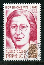 STAMP / TIMBRE FRANCE OBLITERE N° 2032A SIMONE WEIL