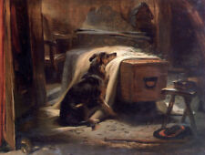 """oil painting handpainted on canvas """"The Old Shepherd's Chief Mourner """"@N12737"""