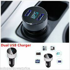 Adaptador CARGADOR de COCHE DOBLE USB Comprobador de tensión 5V 3.1 afor todos los teléfonos inteligentes/Ipad