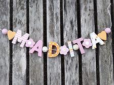 """Madita ""nom chaîne shabby chic bois lettres holzbuchstaben baptême déco name"